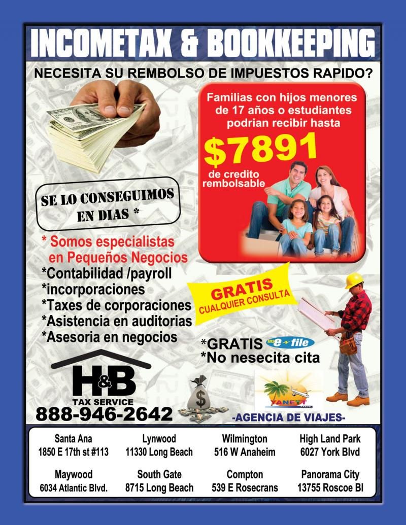 iinocme tax flyer
